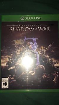 Shadow of war xbox one game case