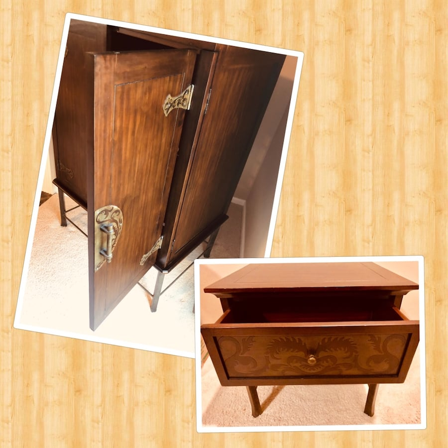 Two pieces: Armoire and End Table
