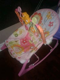 baby's pink and white bouncer Brampton, L7A 3T3