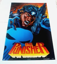 THE PUNISHER POSTER FROM 1989 MARVEL COMICS VINTAGE AND RARE!