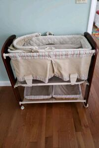3 in 1 bassinet changing table and storage