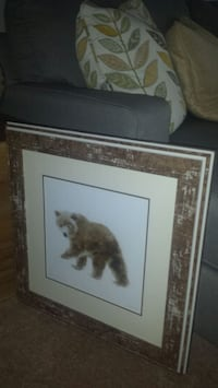 "New Extra Large ""Bear"" Framed Art"