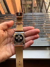 Apple Watch series 1 with small crack top left screen - comes with leather band Philadelphia, 19103