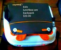black and orange lunchbox backpack Memphis, 38108