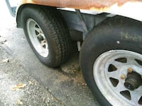 two gray 5-spoke car wheels with tires Providence, 02906