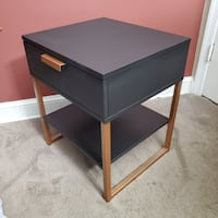 (1) Black/Copper Nightstand Side Table (Local Delivery) Capitol Heights