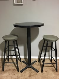 Bar stool table and high chair set