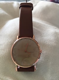 REDUCED ? LADIES ROSE COLOR FACE & BROWN STRAP WATCH? (Sandwood); Brand New! $15? Mardela Springs, 21837