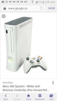 white Xbox 360 System with wireless controller Ontario, M1R 2C1