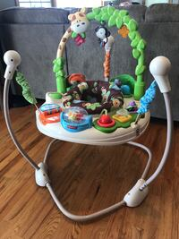 Fisher price deluxe jumperoo - 3 height/positions, seat spins, and interactive. North Canton, 44720
