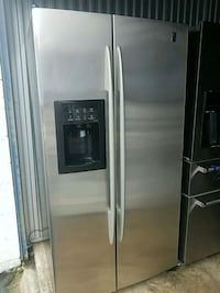 stainless steel side-by-side refrigerator with dispenser Temple Hills, 20748