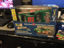 Green revell racing car toy
