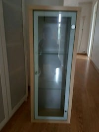 brunt tre innrammet glass display skap 5937 km