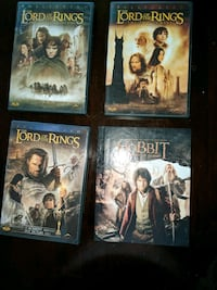 DVDs LORD OF THE RINGS AND THE HOBBIT.  FULL SET Maple Ridge, V2X 5S7