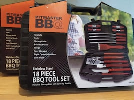 Pitmaster BBQ 18-PC Stainless Steel Tool Set