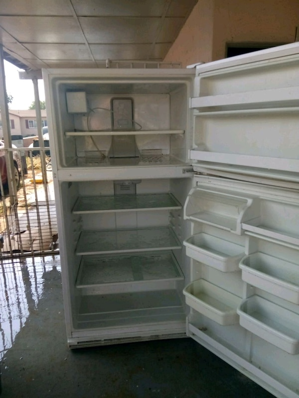white top-mount refrigerator
