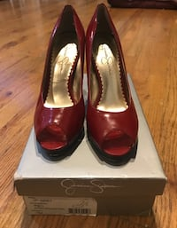 Jessica Simpson Red Patent Leather Heels-Size 7M Farmers Branch, 75244