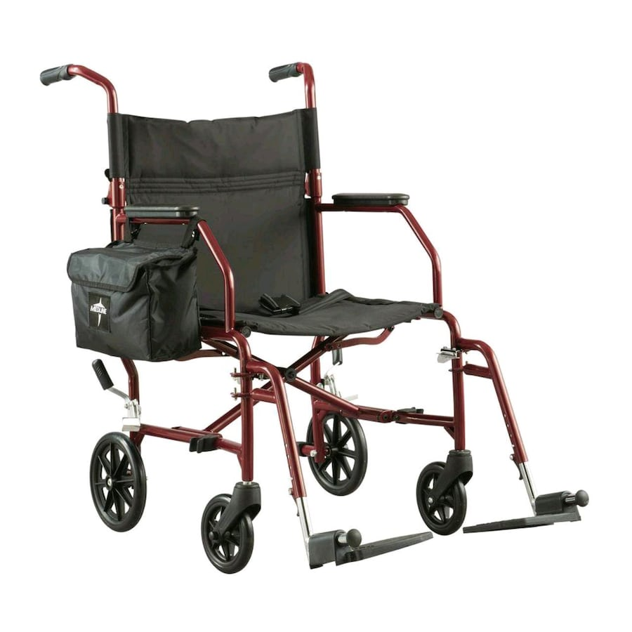Medline Ultra Light Steel Transport Chair