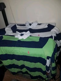 white and green striped polo shirt Valdosta, 31602