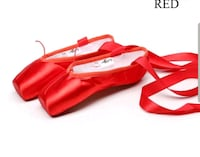 Kids!. Red pointe shoes (Ballet shoes) NEW!!
