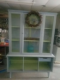 BEACHY WOOD 2 PIECE  DISPLAY CABINET