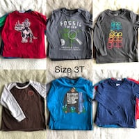 3T boys long sleeve cotton shirts