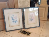 Like new, 2 picture frames with mate (flowers)  Centreville
