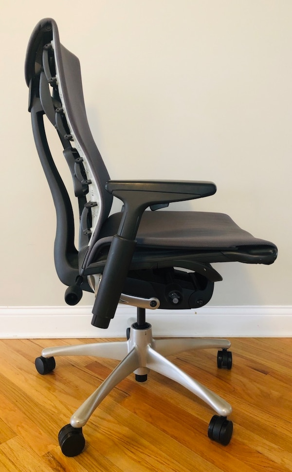 Used Herman Miller Embody Office Chair Charcoal Fabric Graphite