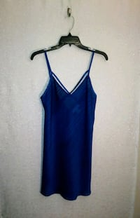 NAVY BLUE SLIP NIGHTY