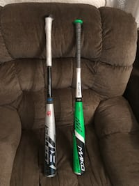 2 FOR  $200 Deal (BBCOR) New Easton Mako and a  Like new Louisville Slugger Select 718
