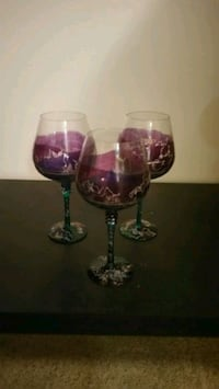 Hand Painted Goblets