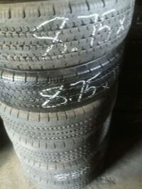 Set of 6! 8.5 by 16.5 like new tires Blakely, 18452
