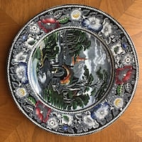 round black and green floral decorative plate Kitchener, N2R 1L6