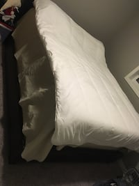 SEALY Posturepedic Queen Mattress, Boxspring and Leather Bedframe Calgary, T3G 0C2
