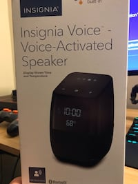 Insignia Voice Activated Speaker with Google Assistant  Columbia, 21045