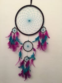 black, teal, and purple feather dream catcher Murrieta, 92562