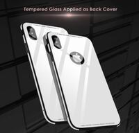 BRAND NEW PREMIUM Protective iPhone X Case with Anti-Scratch Tempered Glass Back Cover and Reinforced Bumper