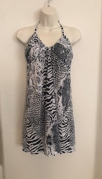Never Worn Calvin Klein animal print swimsuit coverup.