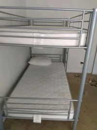 white and gray bed frame with quality mattresses Mount Rainier, 20712