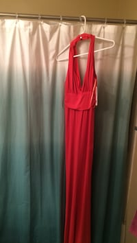 Red halter sleeveless dress Mission, 66202