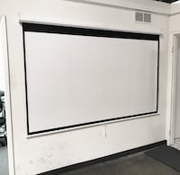 """New $45 Manual 100"""" 16:9 Projector Screen Manual Pull Down Matte White Viewing Area: 87""""x49"""" Whittier"""