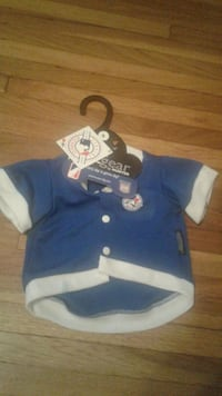 """Licensed Toronto Blue Jays Jersey for Small dog [ 12"""" to 13"""" long] New Windsor"""