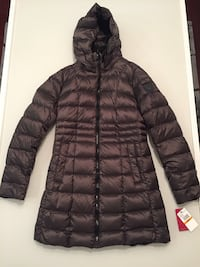 Women's Vince Camuto Packable Hooded Duck Down Zip Up Quilted Jacket - Brand New with tag - size S 39 km