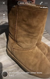 BEARPAW* sheepskin winter boots size 7/7.5 smoke free home as great as uggs** super warm London, N5W 6E3