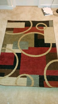 red, white, and black area rug Arlington, 22206