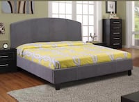 Brand new queen grey fabric platform bed frame warehouse sale  多伦多, M1V 1E9