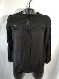 Ro & De X small black top blouse tank Avondale