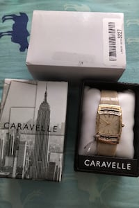 square gold analog bangle watch  Toronto