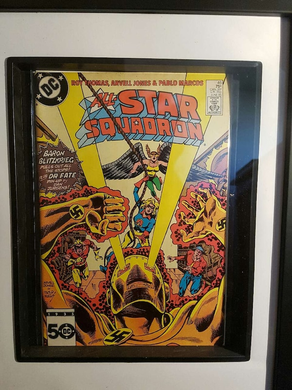 All Star Squadron Vintage Comic Framed!!