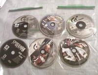 six assorted Xbox 360 game discs Harpers Ferry, 25425